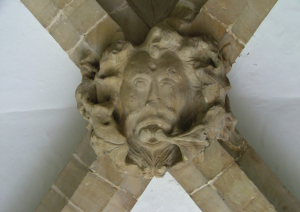 Green Man in the Entrance of St. Dunstan's Church, Cranbrook