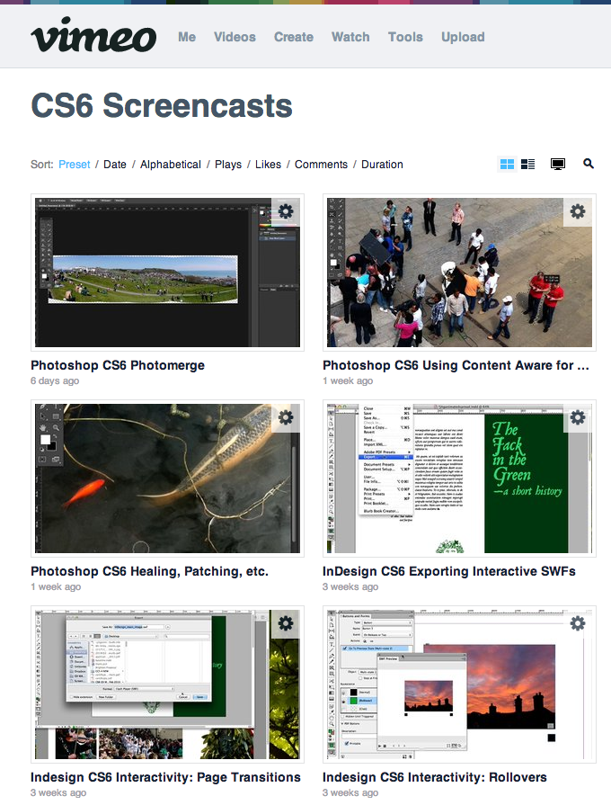 Vimeo Screencasts