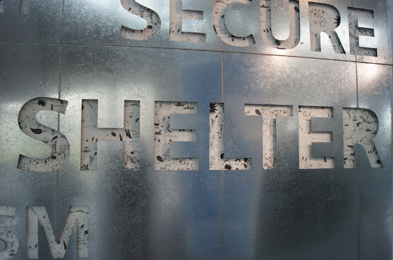 Metal and Print typography
